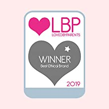 Winner of the Best Ethical Brand 2019 awarded by Loved by Parents