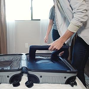 ready rocker in a suitcase