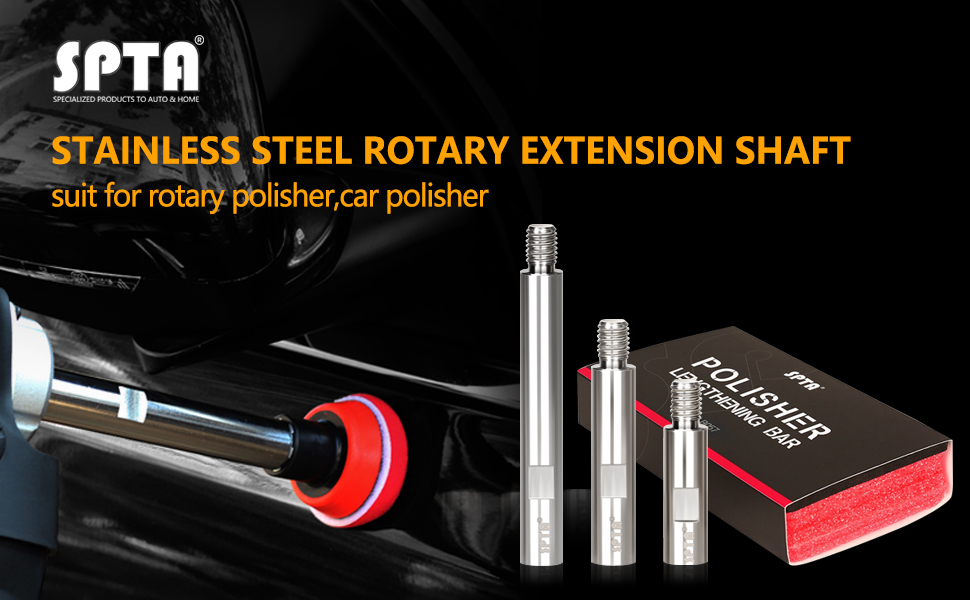 Details about  /1pc M10 Rotary Polisher Extension Shaft For Auto Car Care Detailing 65mm//80mm