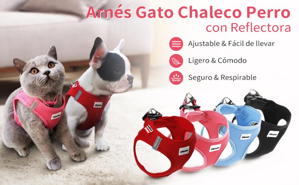 Arn/és Antitirones Suave Acolchado C/ómodo Transpirable Arn/és Chaleco para Perros Peque/ños Arn/és Perro Reflectante Ajustable Medianos y Grandes