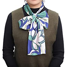 Edge scarf headband used as bow tie