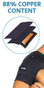 copper shoulder brace copper compression brace reusable gel pack ice cold coldest highest copper