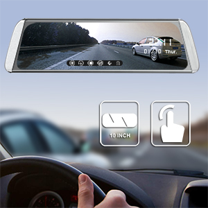 10 inch mirror dash cam