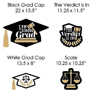 Law School Grad Future Lawyer Graduation Party Yard Sign Set