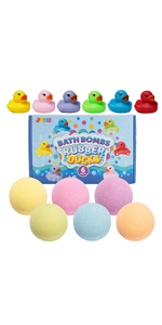 Bath Bombs with Rubber Ducks Toy