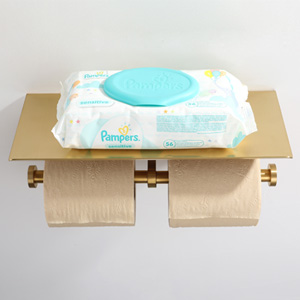Flat View of TP Holder with Shelf for Wet Wipe