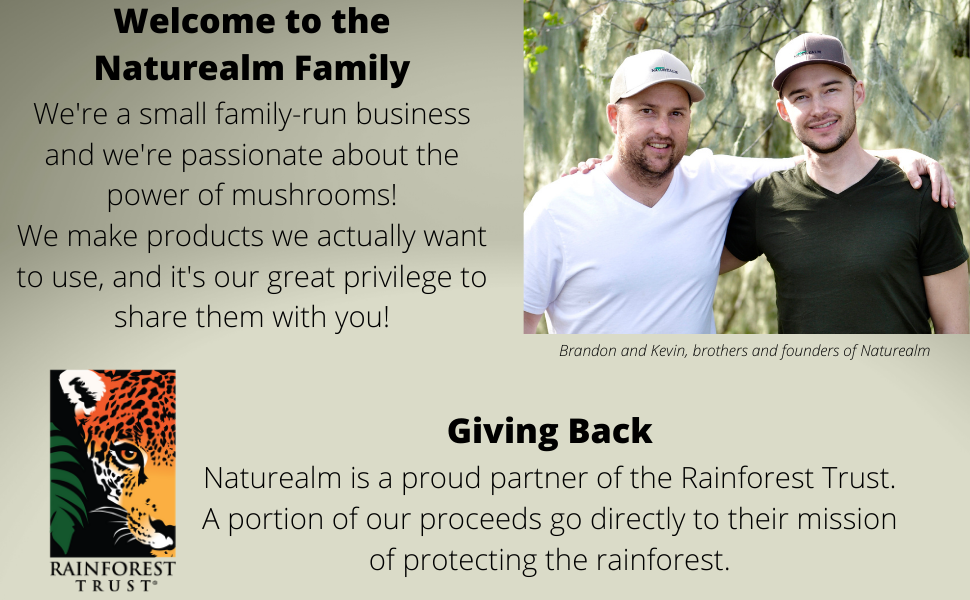 Naturealm company mission rainforest trust family business