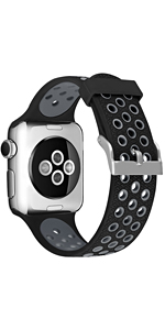 soft blreathable sport bands compatible with apple watch bands series 5 44mm