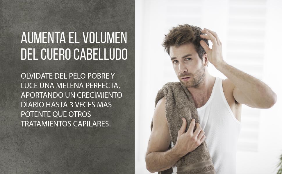 Potente tratamiento anticaída para el cabello   Activador del crecimiento del cabello   Aumenta el volumen y la densidad del pelo   Apto para hombres ...