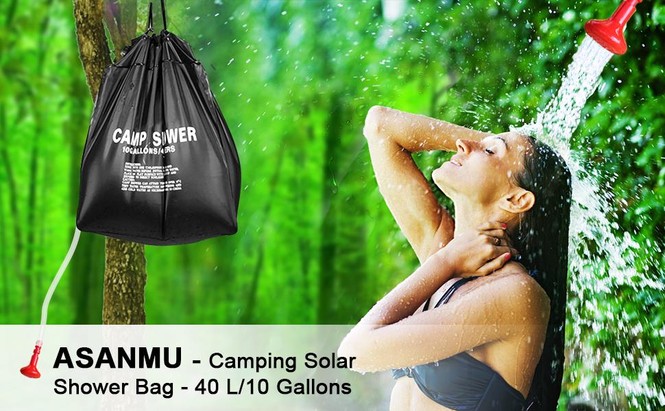 40L Campingdusche Solardusche Shower Solar Dusche Pooldusche Zelten