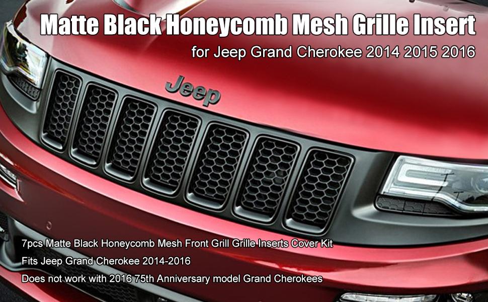 2014 Grand Cherokee Black Mesh Inserts