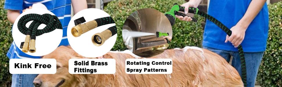 no-kink flexible water hose gardening pipe