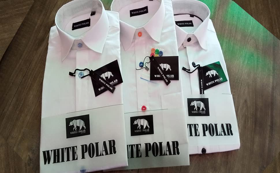 White Shirts with different buttons