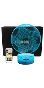 3D soccer ball night light soccer ball gifts for kids Christmas birthday bday gifts men cave decor