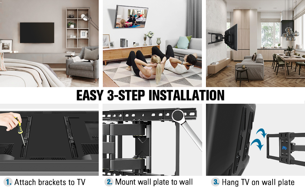 tv mount easy install