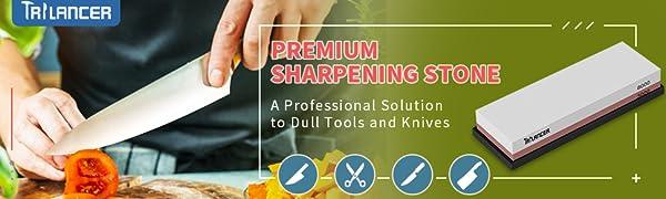 Whetstone Knife Sharpening Stone, 2-Sided 3000 8000 Grit Knife Sharpener