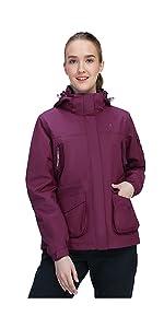 women 3 in 1 jacket