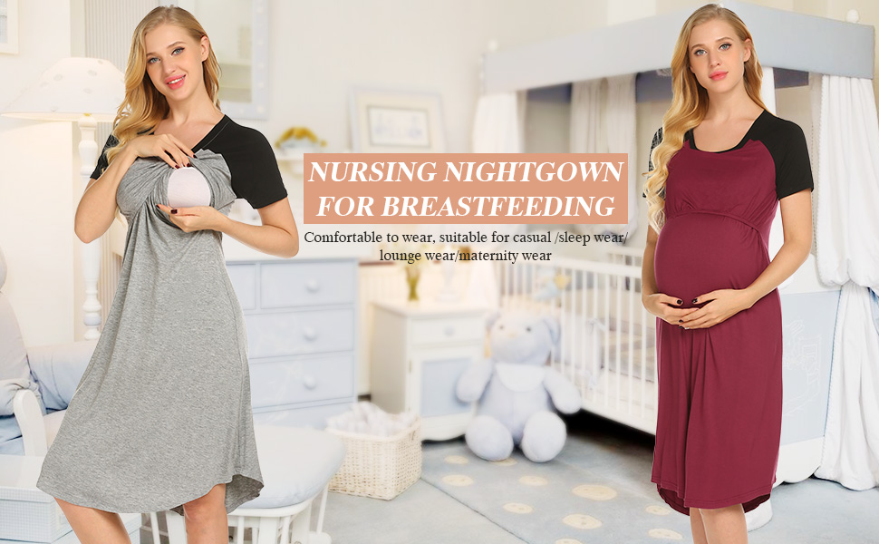 3 in 1 Delivery/Labor/Nursing Nightgown
