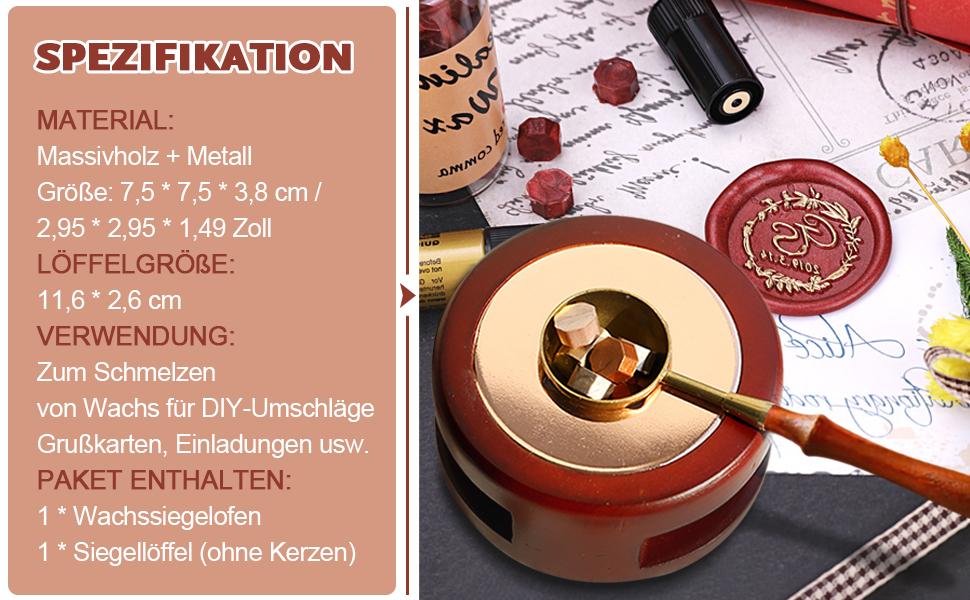 Retro-Legierung Halter f/ür Wachssiegel Kerze PEXWELL Siegelwachs-Ofen Siegelwachs-Ofen Wachsschmelzwerkzeug Stempel