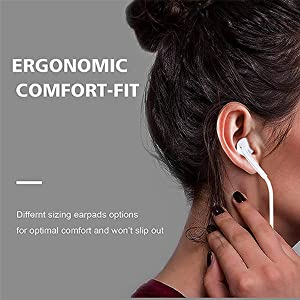 Comfort-fit  2 Pack-Apple Headphones/Earphones/Earbuds with 3.5mm in Ear Wired Headphone Plug [Built-in Microphone & Volume Control] [Apple MFi Certified] Compatible with iPhone,iPad,iPod,Android,Laptops,MP3/4 5d1659bc 9c08 4c1a a1be 4749d041daa8
