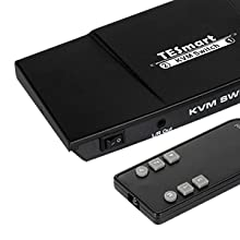 4K 60Hz UHD Audio Output and USB Sharing TESmart 2-Port HDMI KVM Switch