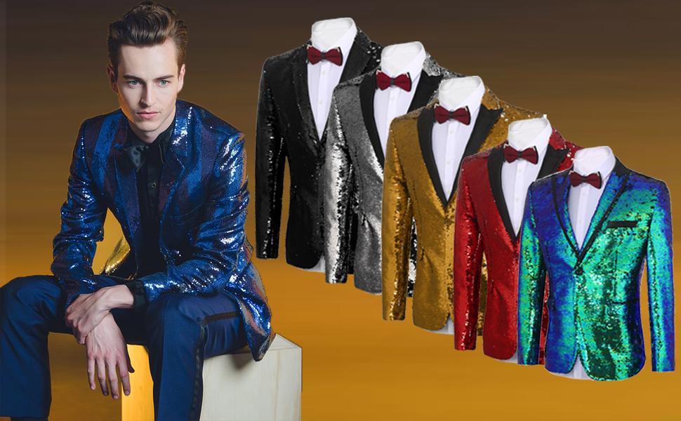 men's sequin blazer