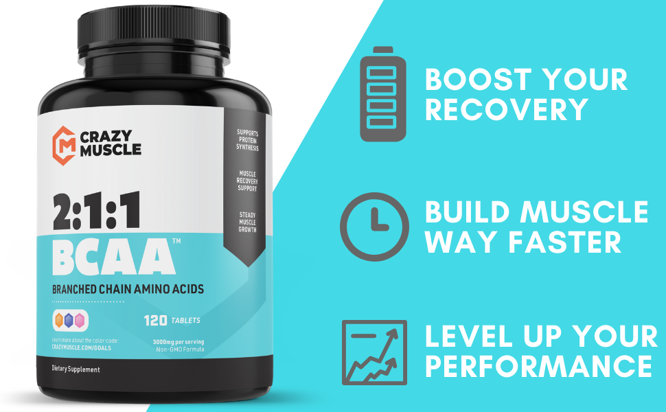BCAA amino acids acid branched chain branch leucine isoleucine valine 2 1 1 muscle recovery strength