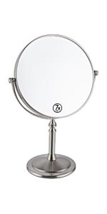 nickel finish mirror