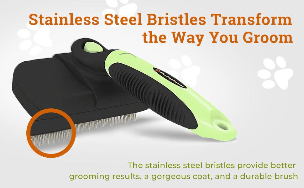 stainless steel bristles