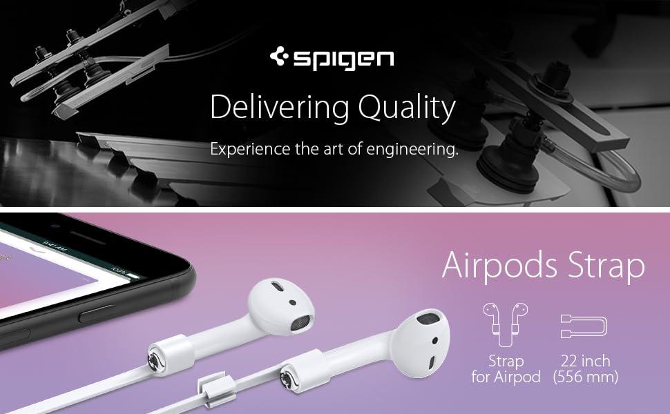 Spigen Correa Airpods, RA100 diseñado para Apple Airpods 1 y 2 ...