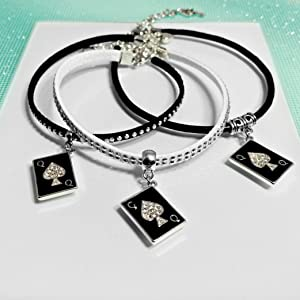 QOS Card Charm Anklets