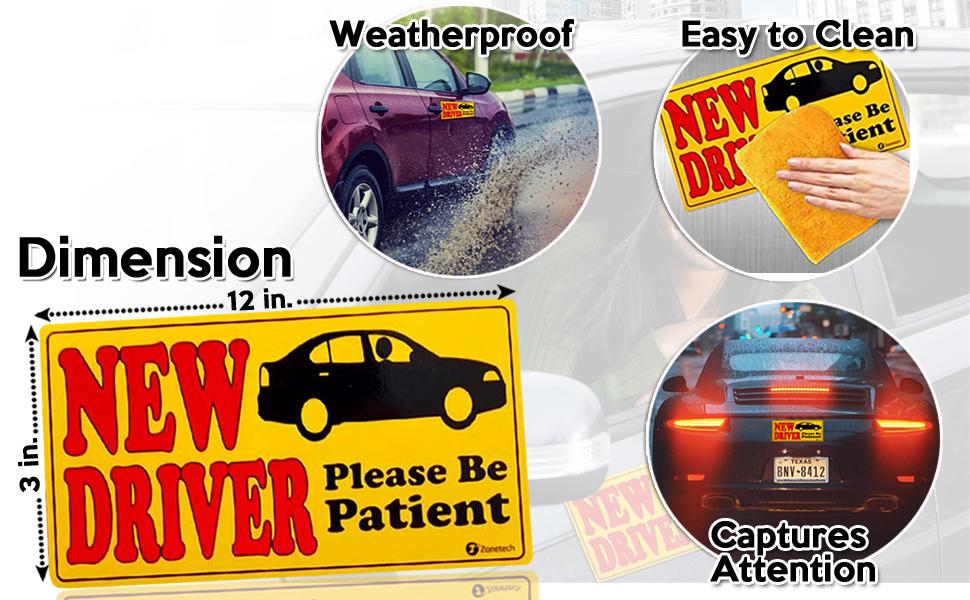 new driver car bumper magnet