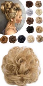 Messy Curly Hair Bun