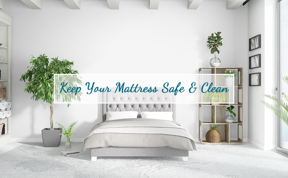 This mattress protector is machine washable