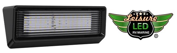 "Leisure LED XL Lumen RV Trailer Camper 5th Wheel 650 Bright Porch Exterior 12"" Inch No Switch Black"