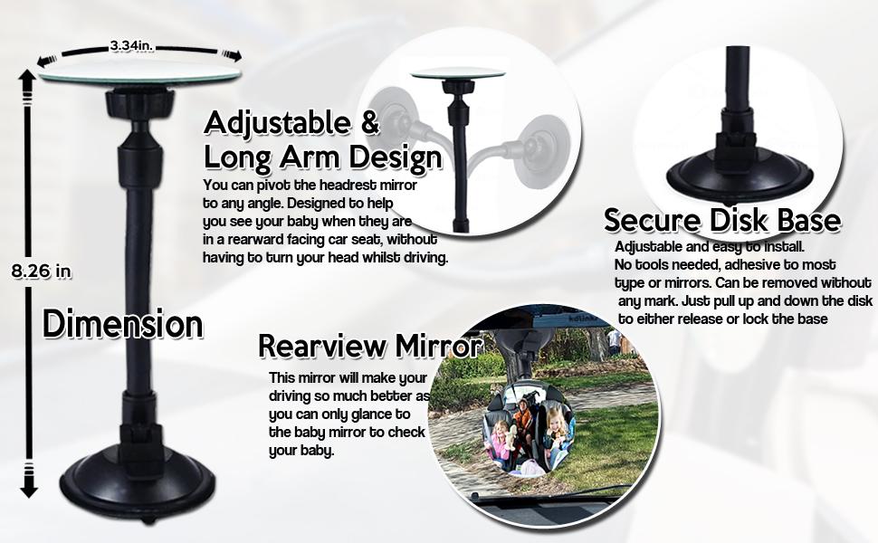 Adjustable Round Blind Spot Mirror