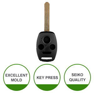 SCITOO Replacement for Shell 4 Buttons Pad Outer Cover Keyless Entry Remote Car Key Fob Case 2006-2015 Honda Civic CR-V Accord Fit Pilot Insight Crosstour Odyssey CR-Z 1PC FCC MLBHLIK-1T