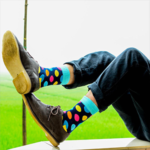 Men's Gift Socks Funny Novelty Crazy Dress Socks Blue