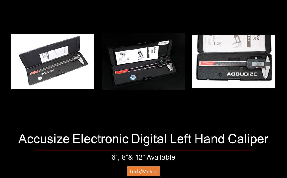Accusize Electronic Digital  Left Hand Caliper, 左手游标卡尺