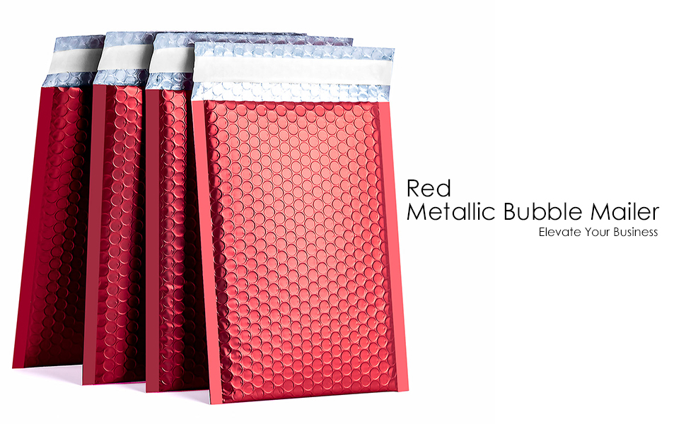 XCGS Red Poly Bubble Mailer