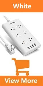 white power strip extension bolck for home computer