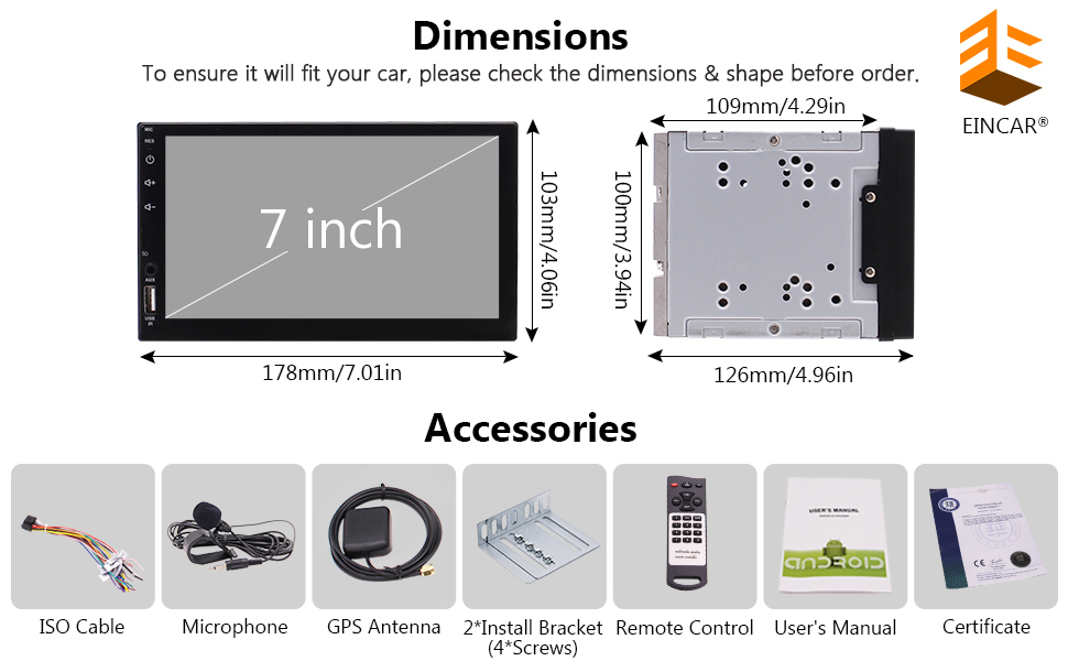 all accessories for double din car stereo