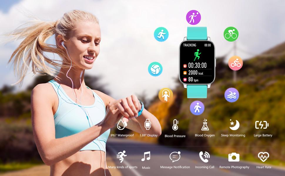 AllCall Smart Watch Fitness Tracker for Men Women