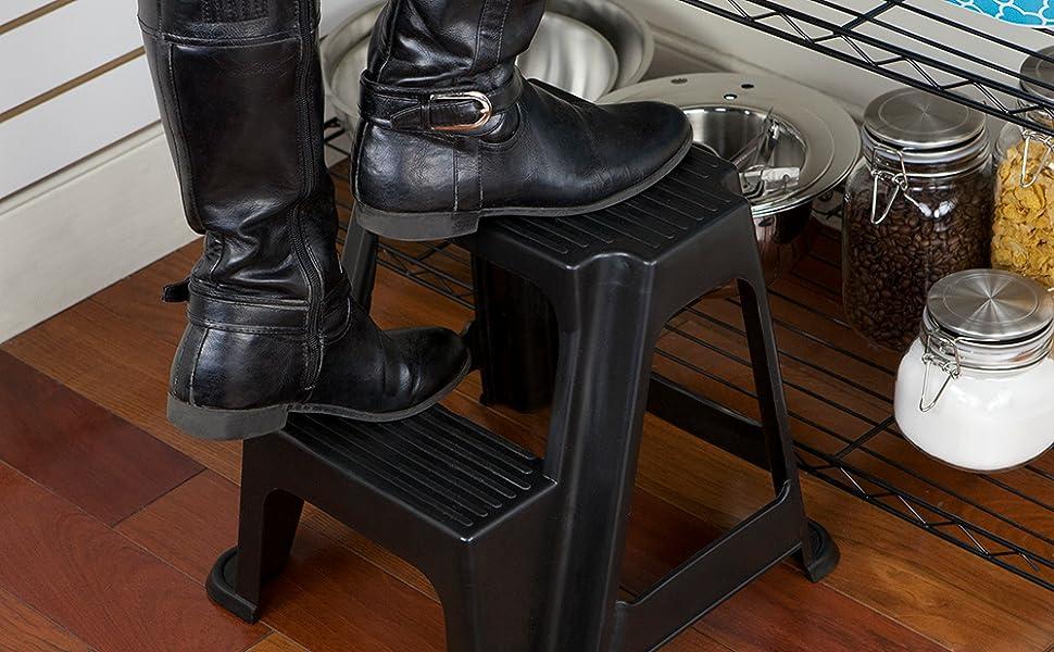 step stool, step ladder, plastic step stool, folding step stool, plastic stool, foldable step stool