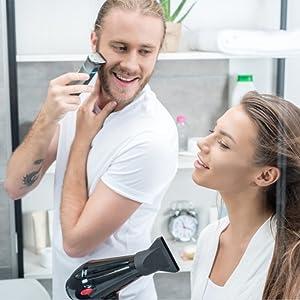shaving hot water