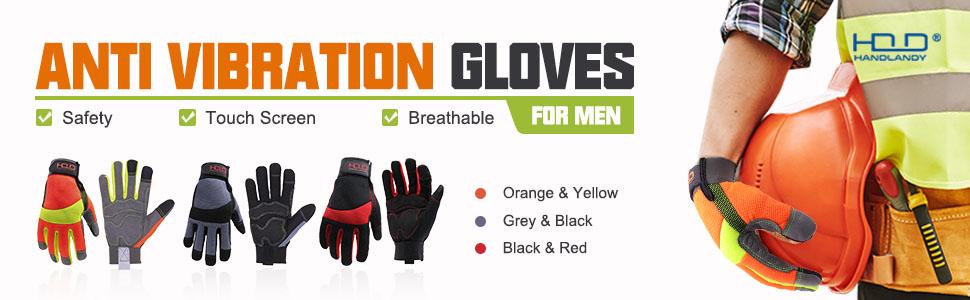 hi vis gloves for men