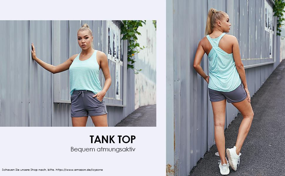 Damen Yoga Fitness Tank Top Lang