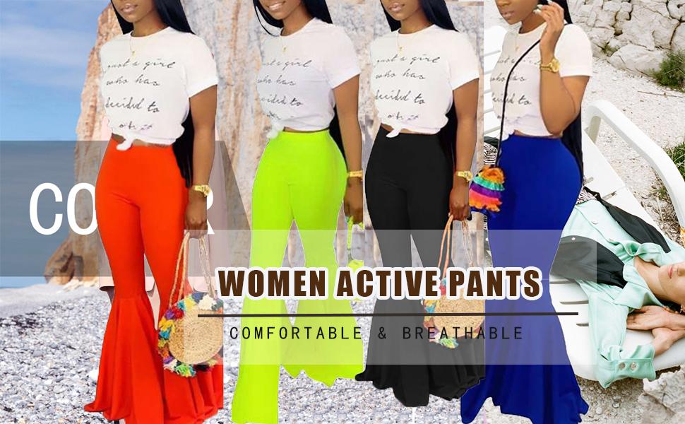 WOMEN WIDE LEG PANTS