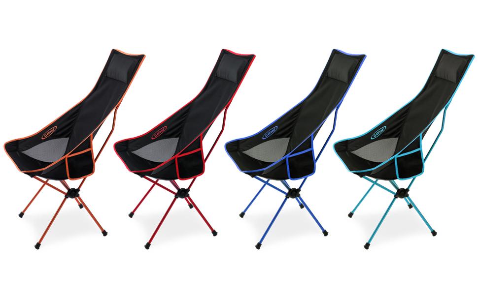 High Back Ultralight Folding Camping Chairs