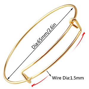 Ajustable Expandable Bangle Bracelets for most people's wrist
